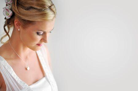 Studio portrait of beautiful stylish bride Stock Photo - 8653966