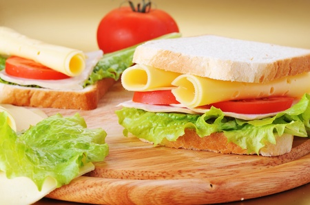 fresh and tasty sandwich ready to eat photo