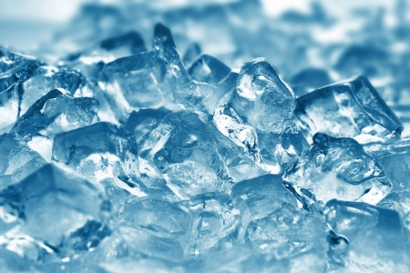 ice cubes very close up photo