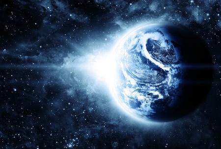 planeta rojo en el hermoso espacio
