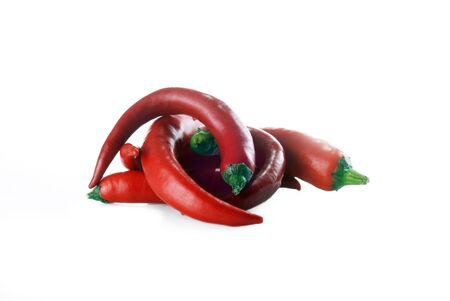 Fresh red hot pepper isolated photo
