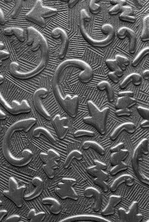 Silver metal plate with classic ornament Stock Photo - 11145324