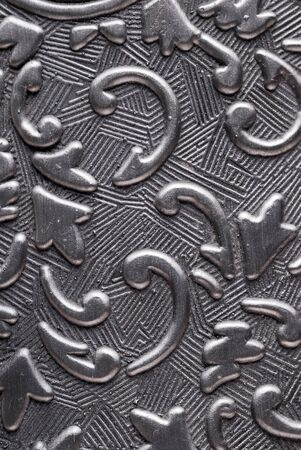 Silver metal plate with classic ornament Stock Photo - 11145356