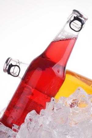 bottles with tasty drink in ice Stock Photo - 12028171