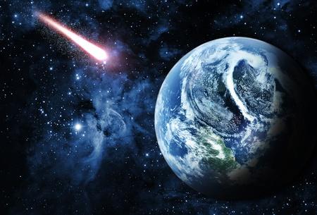 아름다운 공간에 붉은 행성