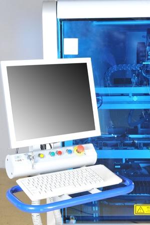 control panel  modern machine. High precision  with display Stock Photo - 13295999