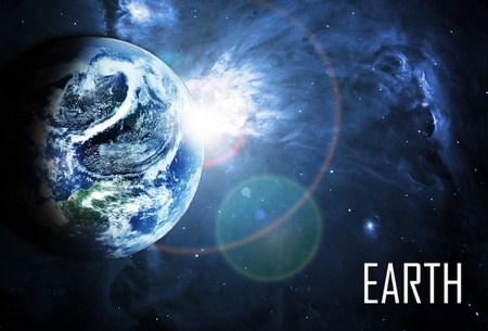 globe earth: blue planet in beautiful space