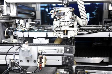 maquinaria: modelo moderno de maquinaria industrial. dentro de la vista en los detalles