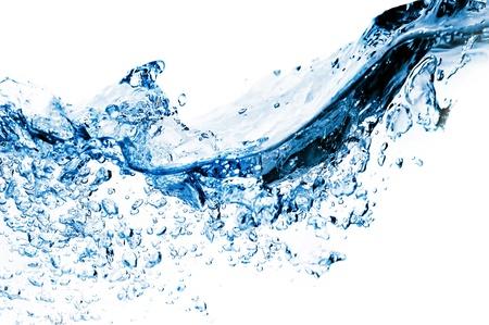agua purificada: muchas burbujas en el agua cerca