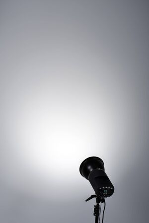 show white: Background with lighting lamp. Empty space for your text or object Stock Photo