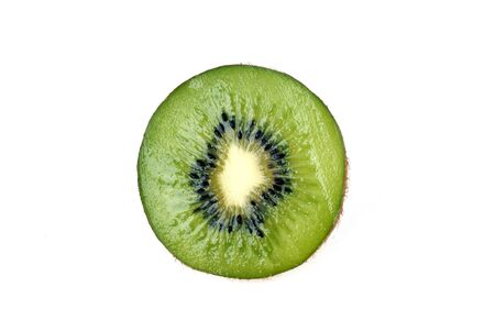 fresh green kiwi slice isolated photo