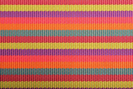 vibrant striped textile, napkin closeup. photo