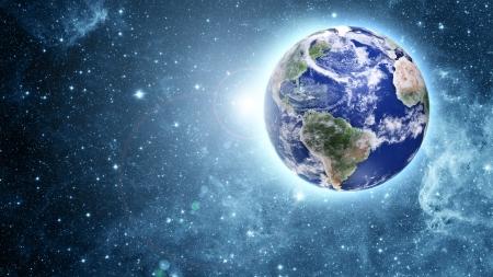 blauen Planeten in schöner Raum