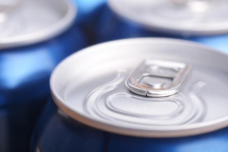 aluminium can with drink, view from  top photo