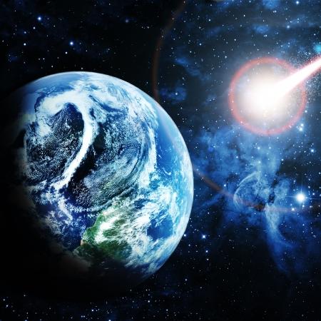 red planet in beautiful space Reklamní fotografie