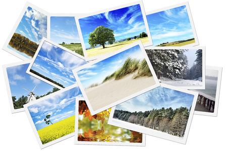 Stapel van natuurfoto's Stockfoto