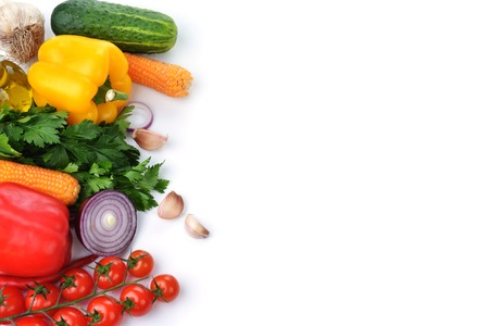 vegetables  on white background photo