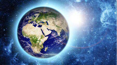world globe map: planet earth