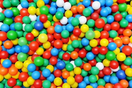 color plastic balls on  children's playground