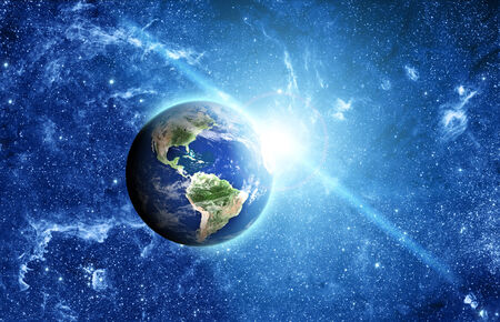 south space: planet earth