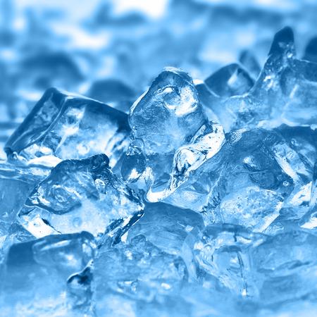 cubos de hielo: hielo cubos muy cerca hasta Foto de archivo