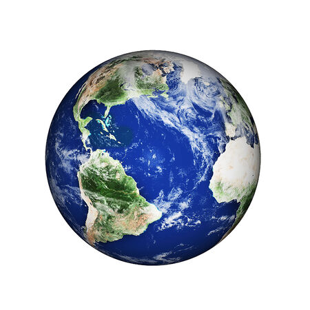 world globe map: planet earth