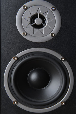 musical speaker  isolated on white background photo
