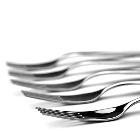 reflection of life: silverware ready to use close up