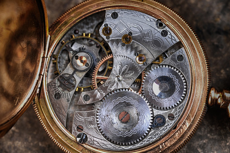 turn dial: disassembled wrist watch lies on  table