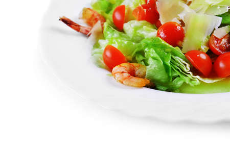 romaine: Salad with seafood, romaine salad leaf and cheese