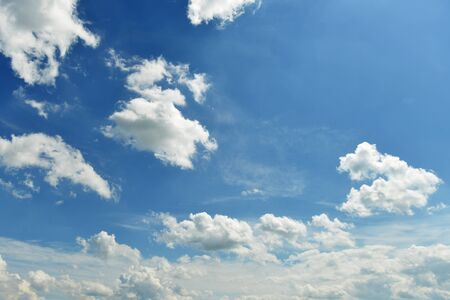 vastness: landscape with blue sky and cloud