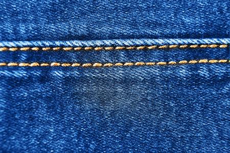 seam: Blue denim texture with seam Stock Photo