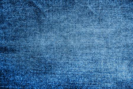 デニムのテクスチャ背景を青、クローズ アップ