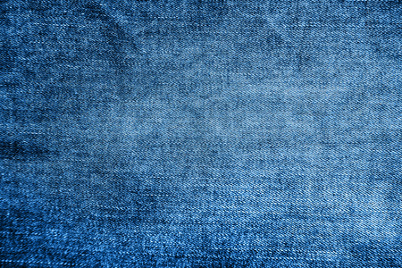 Blue denim texture background, close up