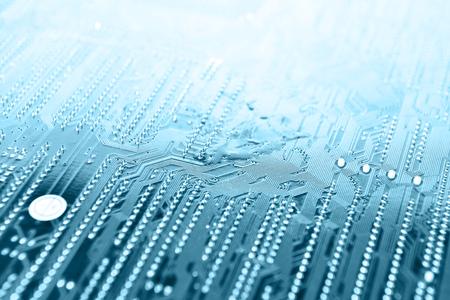 Circuit board digital highways of computer Stock Photo