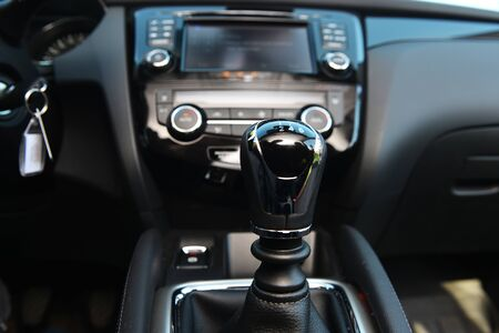 switching: handle for switching speeds in modern car