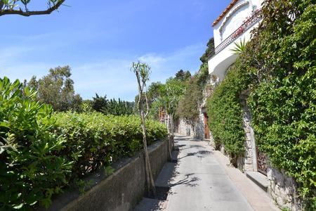 Street of mountain resort town