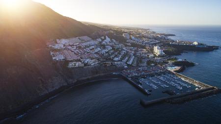 mountain resort city  near sea Stock Photo