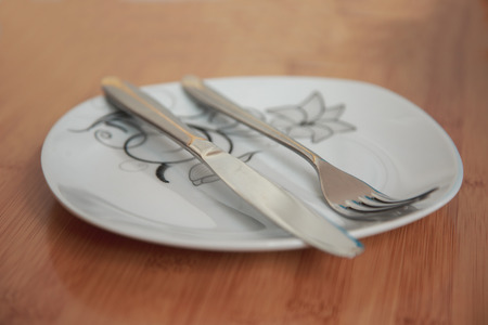 grunge cutlery: The position of cutlery after dinner tells something