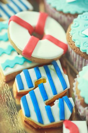Cake like letter S Stock Photo