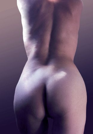 Naked back of woman Stock Photo