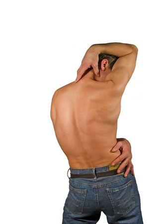 Naked back man torso Stock Photo - 331213
