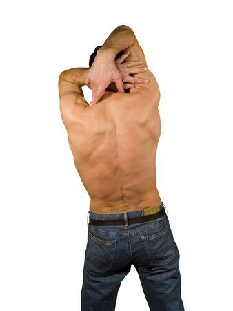 Naked man back torso Stock Photo - 331218
