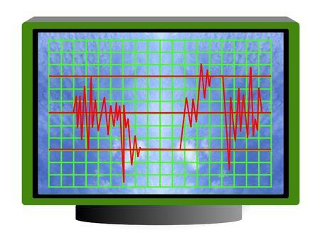 Illustrate of wave diagram Stock Photo - 331207