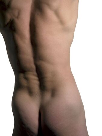 Muscular naked man torso - with