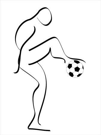 mondial: Illustrate of soccer Stock Photo