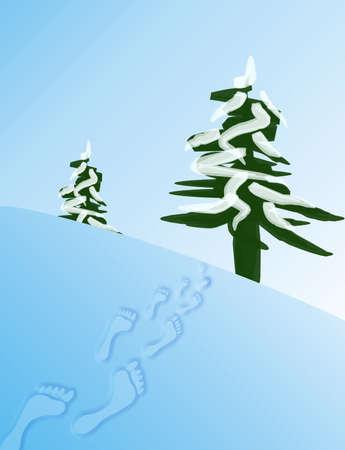 Foot-print in snow Stock Photo - 333865