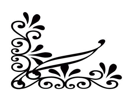 designe: Ornate scroll corner designe