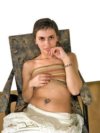 Woman erotic pose Stock Photo - 333782