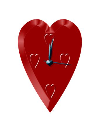 shiver: Lovely heart  clock